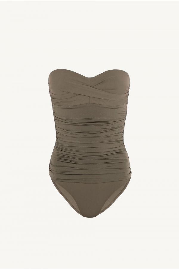 Body D-G Ruched Bandeau Control One Piece