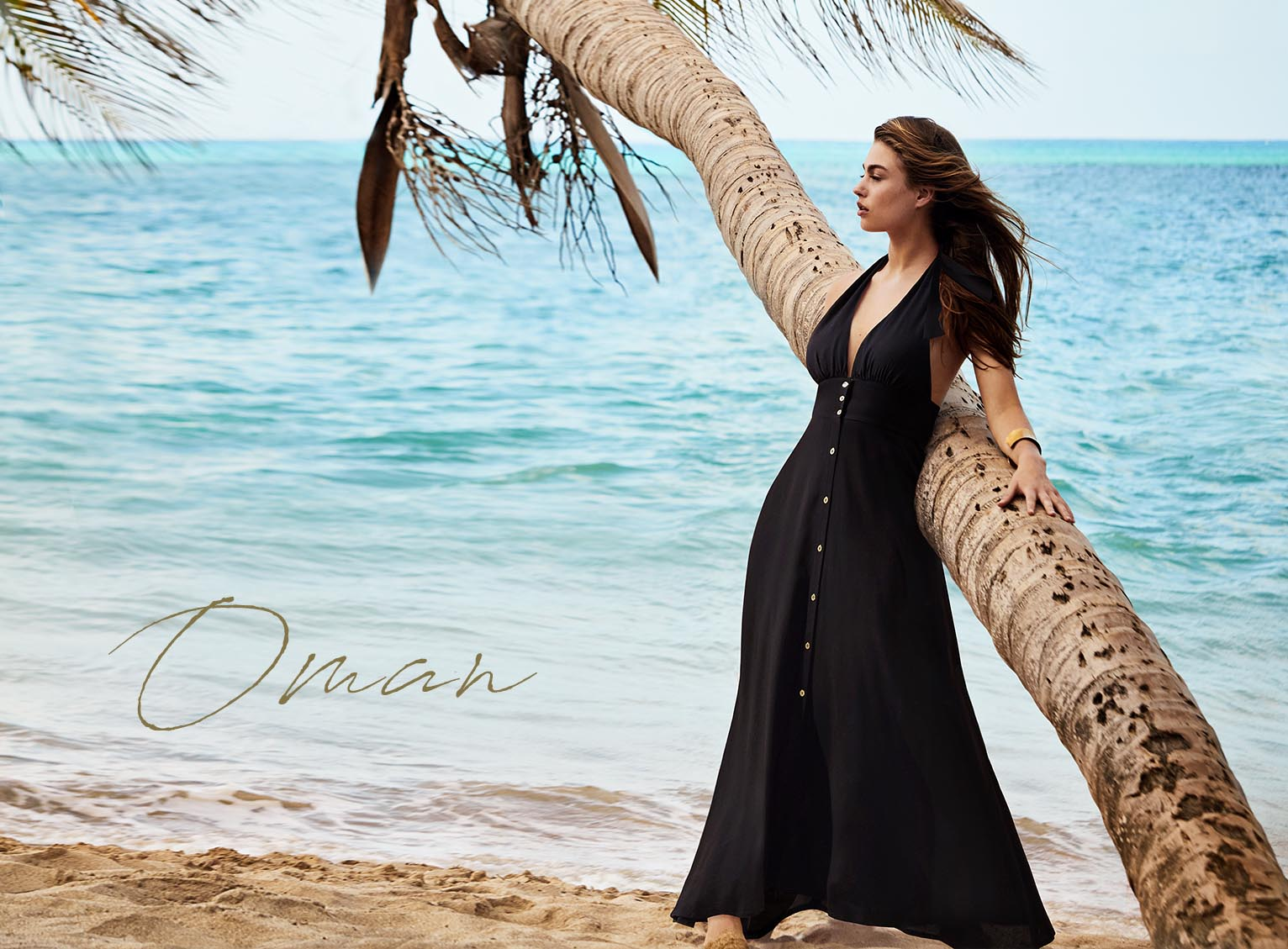 Oman Halterneck Maxi Dress